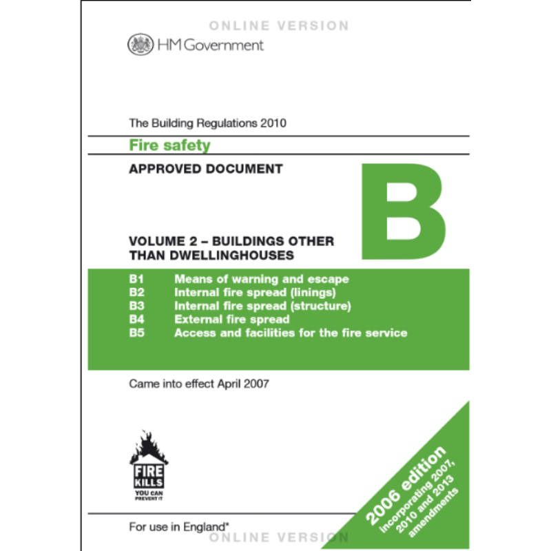 Approved Document B2 Free Online Version