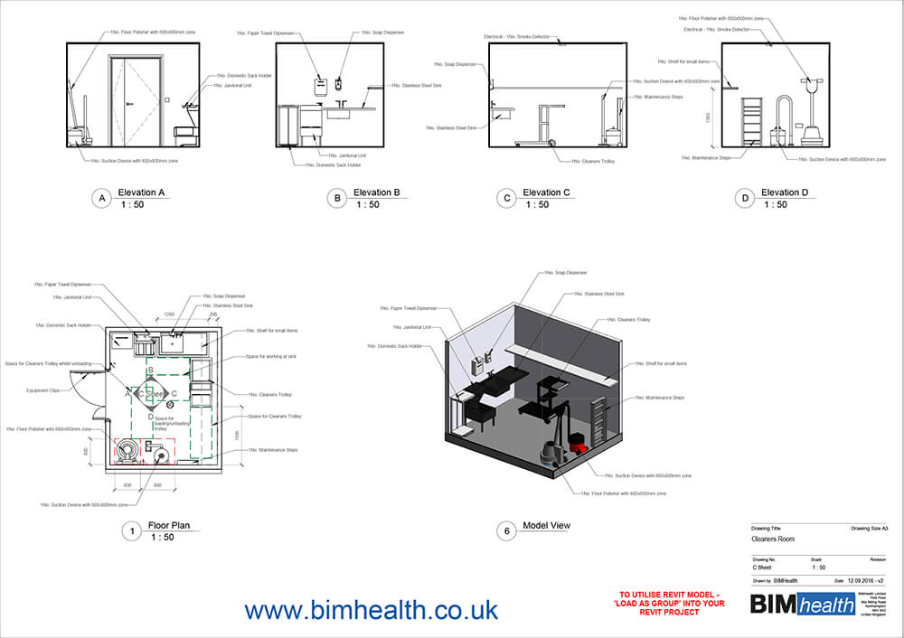 NHS Room Selector | BIM health